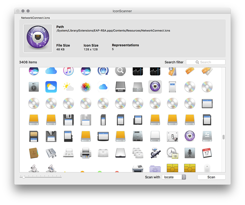 iconscanner screenshot