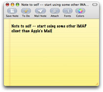 Apple Mail Note